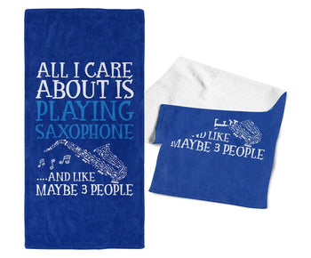 All I Care About is Playing Guitar - Gym / Gig Towel - Towels