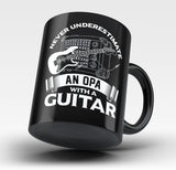 Never Underestimate an Opa with a Guitar - Mug