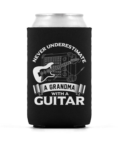Never Underestimate a Grandma with a Guitar Can Cooler