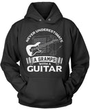 Never Underestimate a Gramps with a Guitar Pullover Hoodie Sweatshirt