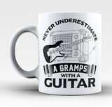 Never Underestimate a Gramps with a Guitar - Mug