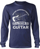 Never Underestimate a Papaw with a Guitar Longsleeve T-Shirt