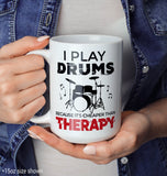 Playing Drums Is Cheaper Than Therapy - Mug - [variant_title]