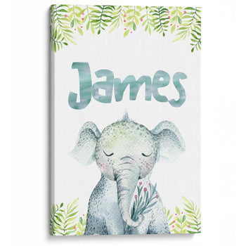 Elephant Safari - Personalized Canvas - Canvases