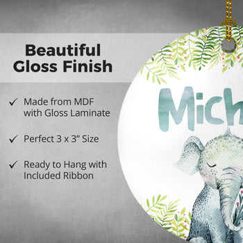 Elephant Safari - Personalized Ornament
