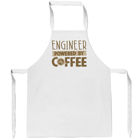 Engineer Powered by Coffee - Apron - Aprons