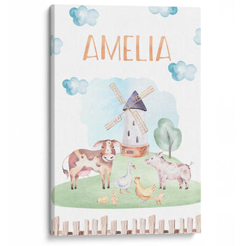 Farm Animals - Personalized Canvas - Canvases