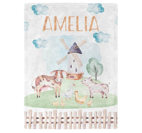 Farm Animals - Personalized Blanket - Blankets