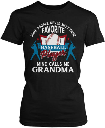 Favorite Baseball Player - Mine Calls Me (Nickname) - T-Shirt - T-Shirts