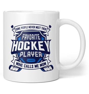 Favorite Hockey Player, Mine Calls Me (Nickname) - Personalized Mug - Coffee Mugs