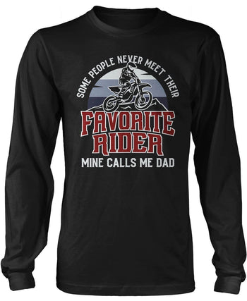 Favorite Motocross Rider, Mine Calls Me (Nickname) - Personalized T-Shirt - T-Shirts
