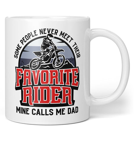 Favorite Motocross Rider, Mine Calls Me (Nickname) - Personalized Mug - Coffee Mugs
