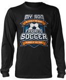 Favorite Soccer Player - Mine Calls Me (Nickname) - Personalized Longsleeve T-Shirt