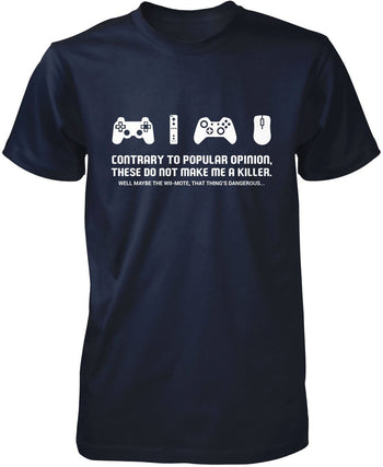 Video Games Don't Make Me a Killer - Premium T-Shirt / Navy / S