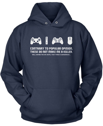 Video Games Don't Make Me a Killer - Pullover Hoodie / Navy / S