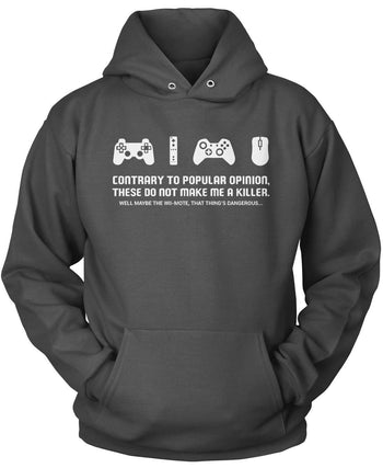 Video Games Don't Make Me a Killer - Pullover Hoodie / Dark Heather / S
