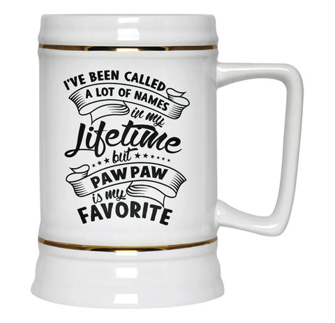 My Favorite Name is Paw Paw - Beer Stein
