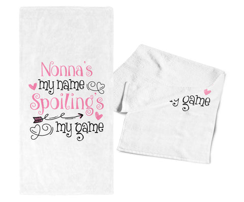 Nonna's My Name Spoiling's My Game - Kitchen Towel