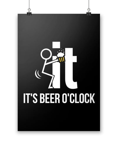 F-It It's Beer O'Clock - Poster - Posters