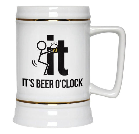 F-It It's Beer O'Clock - Beer Stein - Beer Steins