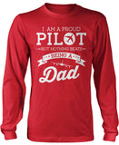 Proud Pilot - Nothing Beats Being a Dad Long Sleeve T-Shirt