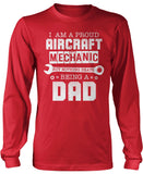 Proud Aircraft Mechanic - Nothing Beats Being a Dad Long Sleeve T-Shirt
