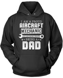 Proud Aircraft Mechanic - Nothing Beats Being a Dad Pullover Hoodie Sweatshirt