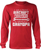 Proud Aircraft Mechanic - Nothing Beats Being a Grandpa - Long Sleeve T-Shirt