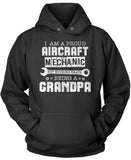 Proud Aircraft Mechanic - Nothing Beats Being a Grandpa - Pullover Hoodie Sweatshirt