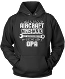 Proud Aircraft Mechanic - Nothing Beats Being an Opa Pullover Hoodie Sweatshirt