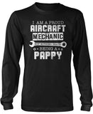 Proud Aircraft Mechanic - Nothing Beats Being a Pappy Long Sleeve T-Shirt