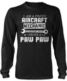 Proud Aircraft Mechanic - Nothing Beats Being a Paw Paw Long Sleeve T-Shirt