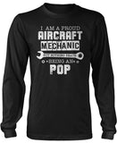 Proud Aircraft Mechanic - Nothing Beats Being a Pop Long Sleeve T-Shirt
