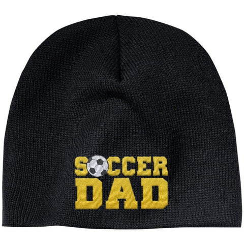 Soccer Dad - Embroidered Beanie - Black