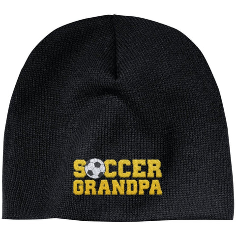 Soccer Grandpa - Embroidered Beanie
