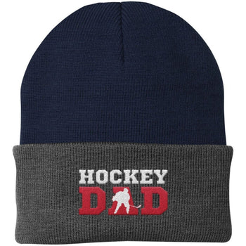 Hockey Dad - Embroidered Beanie - Hats