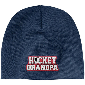 Hockey Grandpa - Embroidered Beanie - Hats