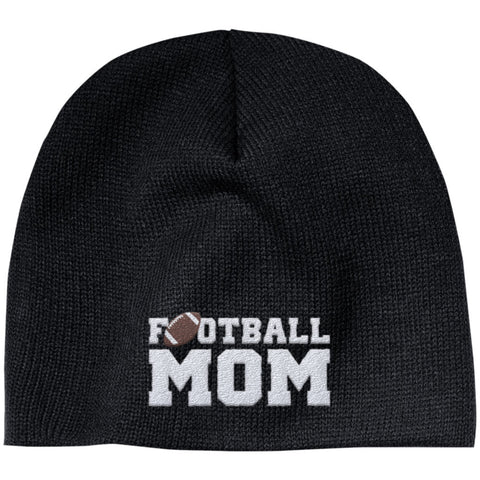Football Mom - Embroidered Beanie