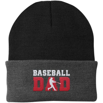 Baseball Dad - Embroidered Beanie - Hats