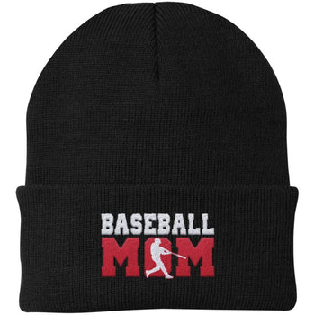 Baseball Mom - Embroidered Beanie - Hats