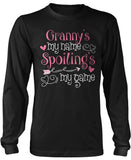 Granny's My Name Spoiling's My Game Long Sleeve T-Shirt