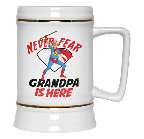 Never Fear (Nickname) Is Here - Beer Stein