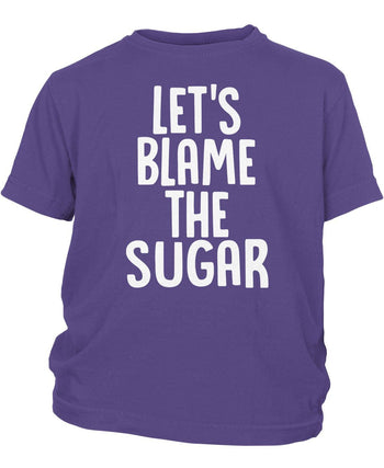 Let's Blame the Sugar - Children's T-Shirt - Youth T-Shirt / Purple / Y-XS