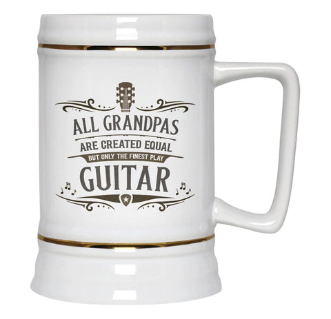 Only the Finest (Nickname) Play Guitar - Beer Stein