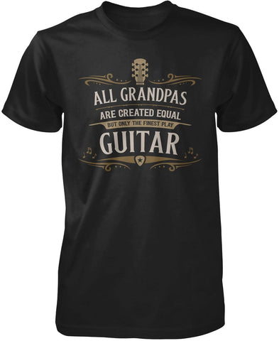 Only the Finest (Nickname) Play Guitar - T-Shirt