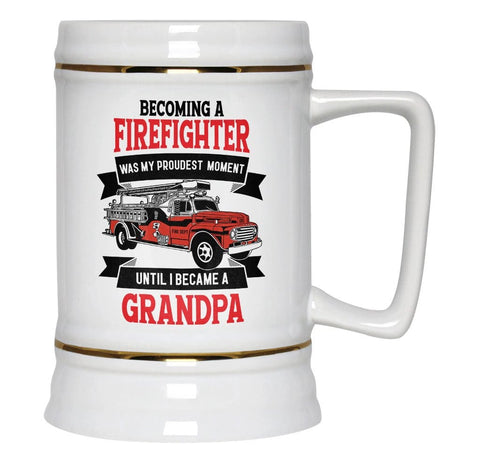 My Proudest Moment - Firefighter (Nickname) - Personalized Beer Stein