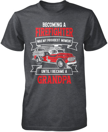 My Proudest Moment - Firefighter (Nickname) - T-Shirt - Premium T-Shirt / Dark Heather / S