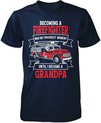 My Proudest Moment - Firefighter (Nickname) - T-Shirt - Premium T-Shirt / Navy / S