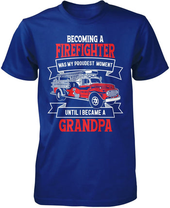 My Proudest Moment - Firefighter (Nickname) - T-Shirt - Premium T-Shirt / Royal / S