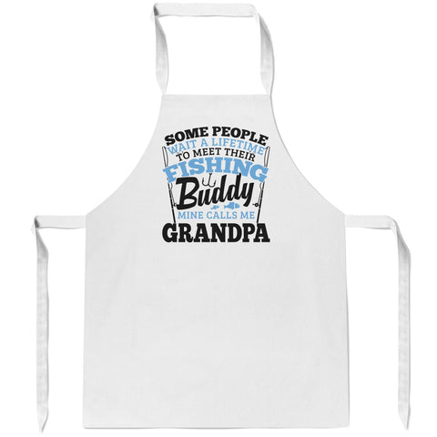 Fishing Buddy - Mine Calls Me (Nickname) - Apron - Aprons